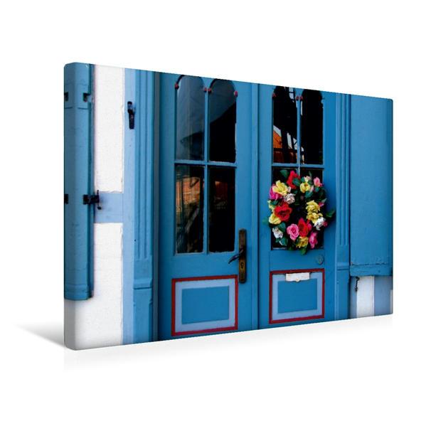 Premium Textil-Leinwand 45 cm x 30 cm quer, Haustür in Freiburg/Elbe | Wandbild, Bild auf Keilrahmen, Fertigbild auf echter Leinwand, Leinwanddruck - Coverbild