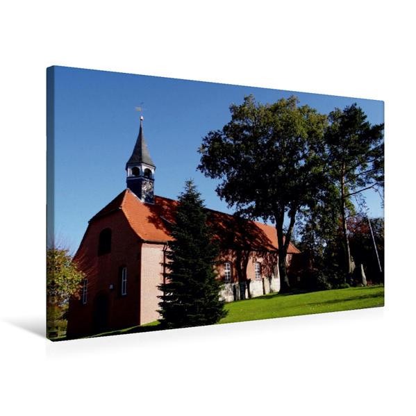 Premium Textil-Leinwand 75 cm x 50 cm quer, Kirche Sankt Dionysius in Hamelwörden | Wandbild, Bild auf Keilrahmen, Fertigbild auf echter Leinwand, Leinwanddruck - Coverbild