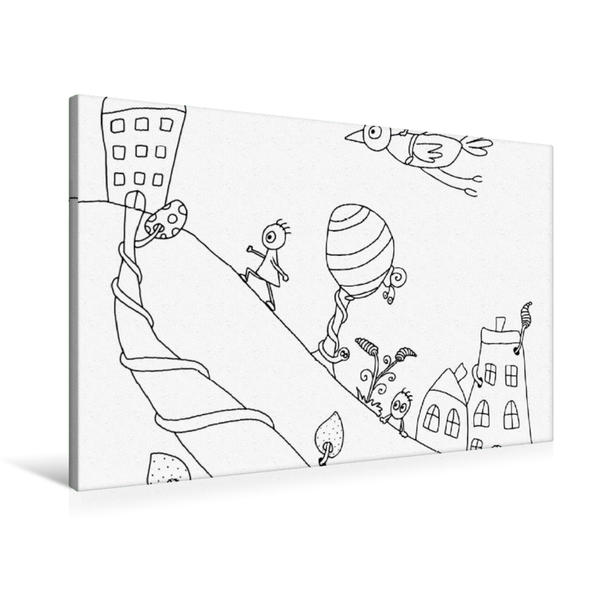 Premium Textil-Leinwand 90 cm x 60 cm quer, Am Hang | Wandbild, Bild auf Keilrahmen, Fertigbild auf echter Leinwand, Leinwanddruck - Coverbild