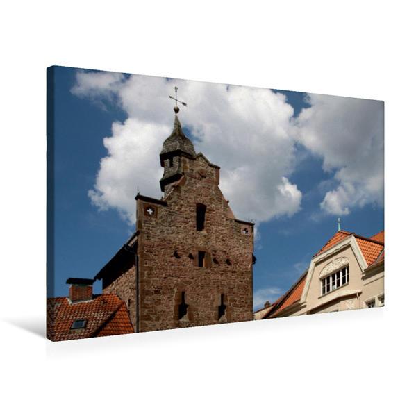 Premium Textil-Leinwand 75 cm x 50 cm quer, Niederntor in Blomberg   Wandbild, Bild auf Keilrahmen, Fertigbild auf echter Leinwand, Leinwanddruck - Coverbild
