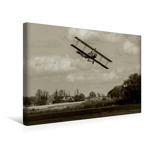 Premium Textil-Leinwand 45 cm x 30 cm quer, Avro 504 | Wandbild, Bild auf Keilrahmen, Fertigbild auf echter Leinwand, Leinwanddruck - Coverbild