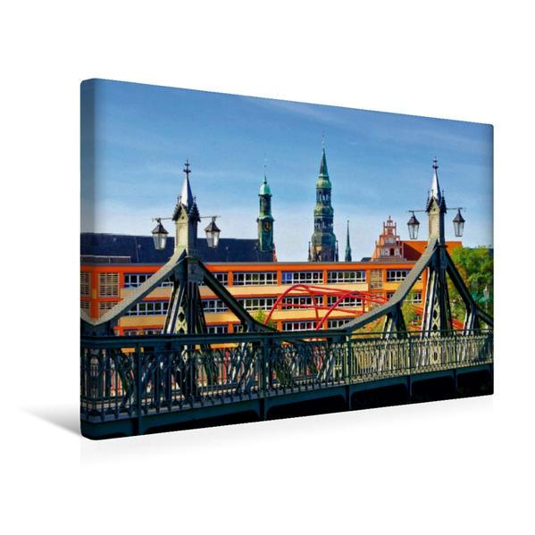 Premium Textil-Leinwand 45 cm x 30 cm quer, Paradiesbrücke | Wandbild, Bild auf Keilrahmen, Fertigbild auf echter Leinwand, Leinwanddruck - Coverbild
