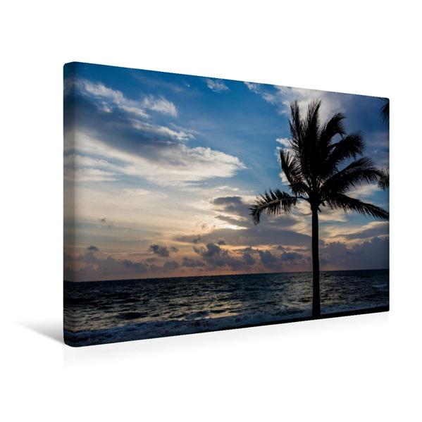 Premium Textil-Leinwand 45 cm x 30 cm quer, Sonnenuntergang in Khao Lak | Wandbild, Bild auf Keilrahmen, Fertigbild auf echter Leinwand, Leinwanddruck - Coverbild