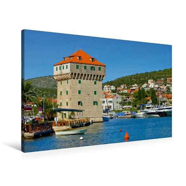 Premium Textil-Leinwand 90 cm x 60 cm quer, Burg in Marina | Wandbild, Bild auf Keilrahmen, Fertigbild auf echter Leinwand, Leinwanddruck - Coverbild