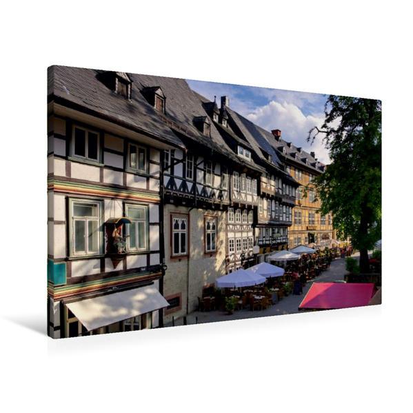 Premium Textil-Leinwand 90 cm x 60 cm quer, Marktkirchhof | Wandbild, Bild auf Keilrahmen, Fertigbild auf echter Leinwand, Leinwanddruck - Coverbild
