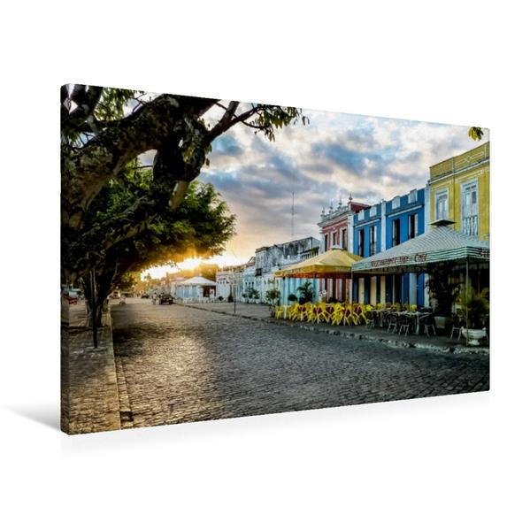 Premium Textil-Leinwand 90 cm x 60 cm quer, Canavieiras  Costa do Cacau   Wandbild, Bild auf Keilrahmen, Fertigbild auf echter Leinwand, Leinwanddruck - Coverbild