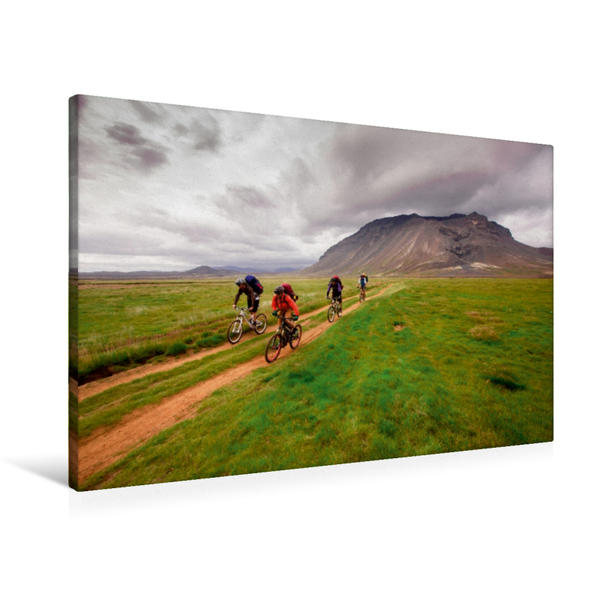 Premium Textil-Leinwand 90 cm x 60 cm quer, Ein Motiv aus dem Kalender BIKE ISLAND | Wandbild, Bild auf Keilrahmen, Fertigbild auf echter Leinwand, Leinwanddruck - Coverbild
