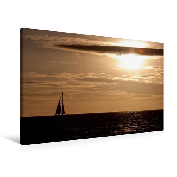 Premium Textil-Leinwand 75 cm x 50 cm quer, Waikiki Beach, Honolulu, O'ahu | Wandbild, Bild auf Keilrahmen, Fertigbild auf echter Leinwand, Leinwanddruck - Coverbild