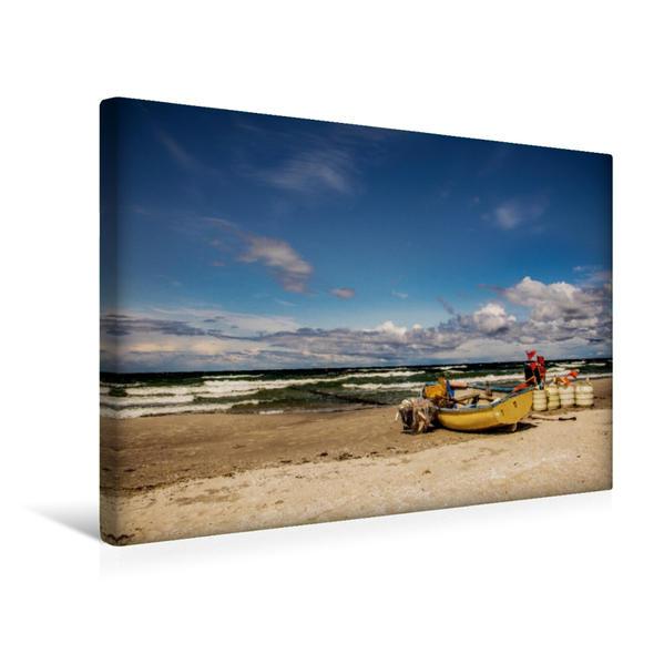 Premium Textil-Leinwand 45 cm x 30 cm quer, Strandidylle   Wandbild, Bild auf Keilrahmen, Fertigbild auf echter Leinwand, Leinwanddruck - Coverbild