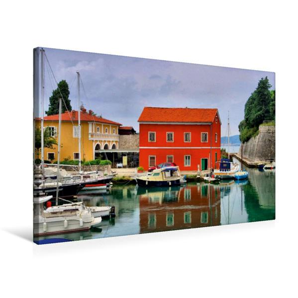 Premium Textil-Leinwand 75 cm x 50 cm quer, Hafen Zadar | Wandbild, Bild auf Keilrahmen, Fertigbild auf echter Leinwand, Leinwanddruck - Coverbild