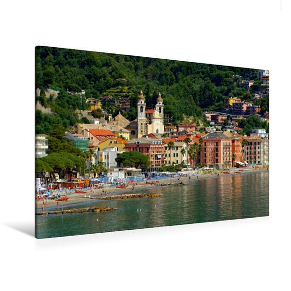 Premium Textil-Leinwand 120 cm x 80 cm quer, Laigueglia   Wandbild, Bild auf Keilrahmen, Fertigbild auf echter Leinwand, Leinwanddruck - Coverbild