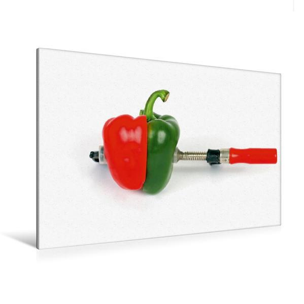 Premium Textil-Leinwand 120 cm x 80 cm quer, Ein Motiv aus dem Kalender Ich liebe Paprika | Wandbild, Bild auf Keilrahmen, Fertigbild auf echter Leinwand, Leinwanddruck - Coverbild