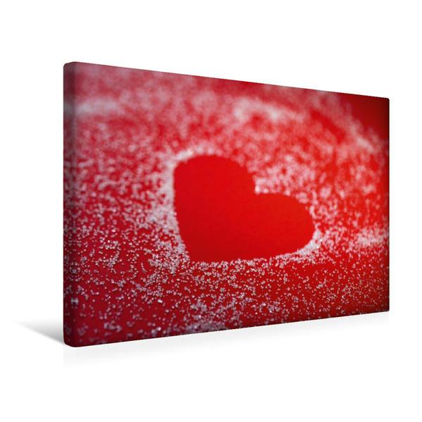 Premium Textil-Leinwand 45 cm x 30 cm quer, Zuckerherz | Wandbild, Bild auf Keilrahmen, Fertigbild auf echter Leinwand, Leinwanddruck - Coverbild