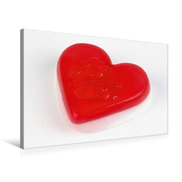 Premium Textil-Leinwand 75 cm x 50 cm quer, Süßes Herz | Wandbild, Bild auf Keilrahmen, Fertigbild auf echter Leinwand, Leinwanddruck - Coverbild