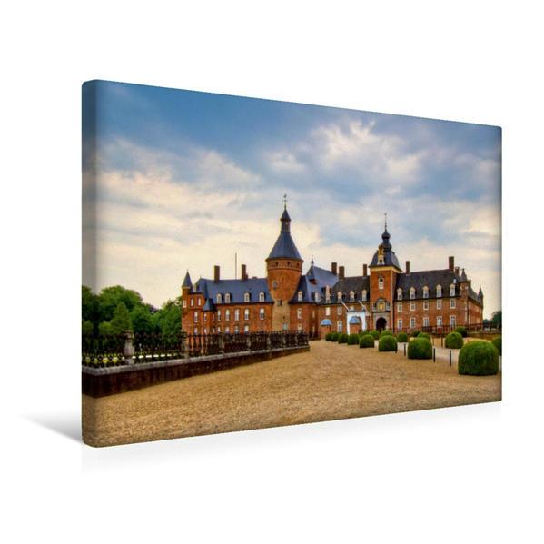 Premium Textil-Leinwand 45 cm x 30 cm quer, Burg Anholt im Münsterland | Wandbild, Bild auf Keilrahmen, Fertigbild auf echter Leinwand, Leinwanddruck - Coverbild