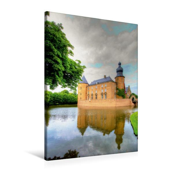 Premium Textil-Leinwand 60 cm x 90 cm hoch, Burg Gemen im Münsterland | Wandbild, Bild auf Keilrahmen, Fertigbild auf echter Leinwand, Leinwanddruck - Coverbild