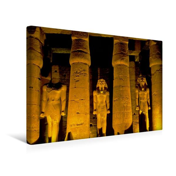 Premium Textil-Leinwand 45 cm x 30 cm quer, Luxortempel in Luxor, Ägypten   Wandbild, Bild auf Keilrahmen, Fertigbild auf echter Leinwand, Leinwanddruck - Coverbild