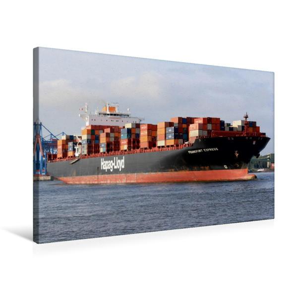 Premium Textil-Leinwand 75 cm x 50 cm quer, FRANKFURT EXPRESS   Wandbild, Bild auf Keilrahmen, Fertigbild auf echter Leinwand, Leinwanddruck - Coverbild