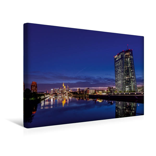 Premium Textil-Leinwand 45 cm x 30 cm quer, Deutschherrnbrücke   Wandbild, Bild auf Keilrahmen, Fertigbild auf echter Leinwand, Leinwanddruck - Coverbild