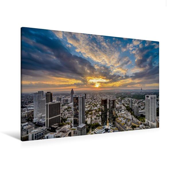 Premium Textil-Leinwand 120 cm x 80 cm quer, Maintower | Wandbild, Bild auf Keilrahmen, Fertigbild auf echter Leinwand, Leinwanddruck - Coverbild