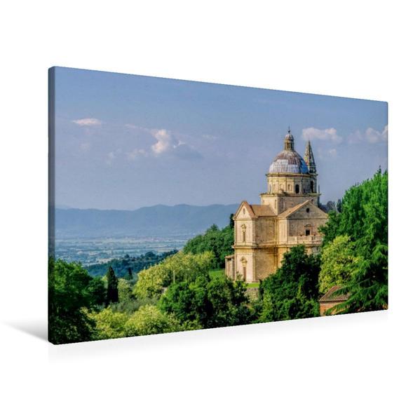 Premium Textil-Leinwand 90 cm x 60 cm quer, Madonna di San Biagio | Wandbild, Bild auf Keilrahmen, Fertigbild auf echter Leinwand, Leinwanddruck - Coverbild