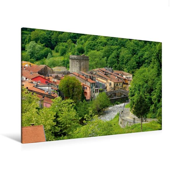 Premium Textil-Leinwand 120 cm x 80 cm quer, Varese Ligure | Wandbild, Bild auf Keilrahmen, Fertigbild auf echter Leinwand, Leinwanddruck - Coverbild