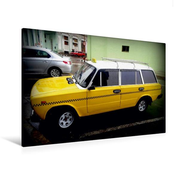 Premium Textil-Leinwand 120 cm x 80 cm quer, Lada 1500 Kombi - Ein Motiv aus dem Kalender