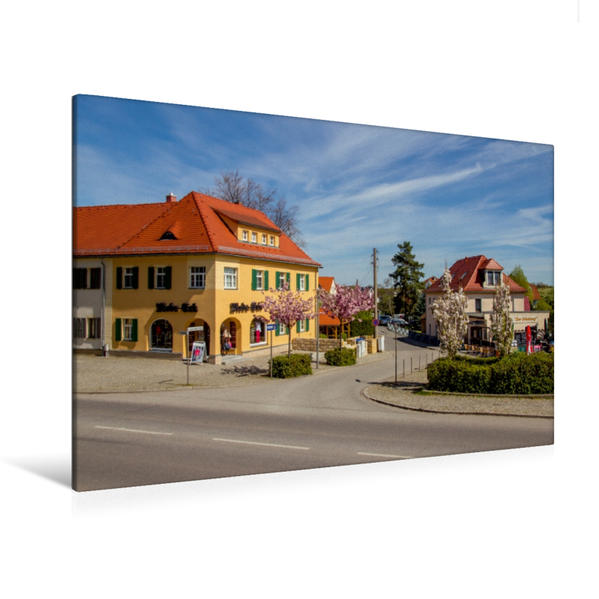 Premium Textil-Leinwand 120 cm x 80 cm quer, An der Schlossallee in Moritzburg | Wandbild, Bild auf Keilrahmen, Fertigbild auf echter Leinwand, Leinwanddruck - Coverbild