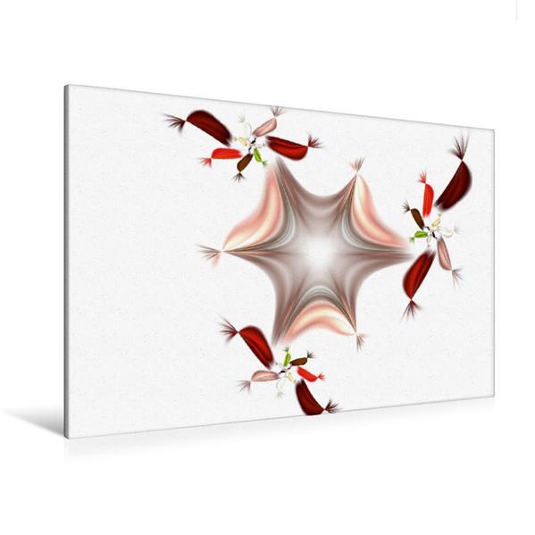 Premium Textil-Leinwand 120 cm x 80 cm quer, Ein Motiv aus dem Kalender Digitale Blüten - analoge Gedichte 2017 | Wandbild, Bild auf Keilrahmen, Fertigbild auf echter Leinwand, Leinwanddruck - Coverbild