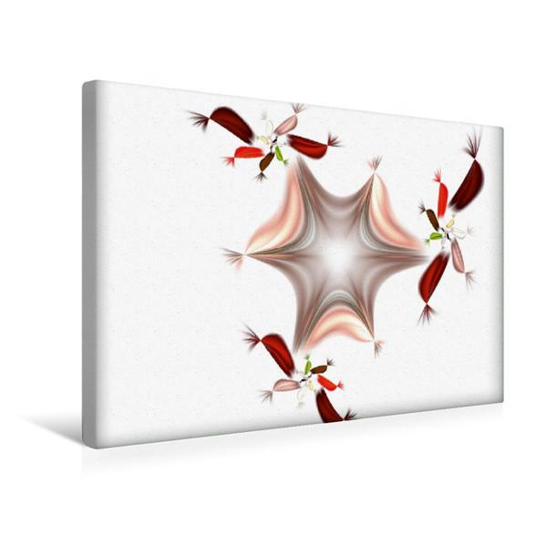 Premium Textil-Leinwand 45 cm x 30 cm quer, Ein Motiv aus dem Kalender Digitale Blüten - analoge Gedichte 2017 | Wandbild, Bild auf Keilrahmen, Fertigbild auf echter Leinwand, Leinwanddruck - Coverbild