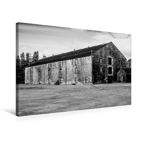 Premium Textil-Leinwand 75 cm x 50 cm quer, Dalmore Destillerie | Wandbild, Bild auf Keilrahmen, Fertigbild auf echter Leinwand, Leinwanddruck - Coverbild