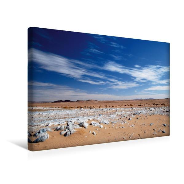 Premium Textil-Leinwand 45 cm x 30 cm quer, Schnee in der Wüste   Wandbild, Bild auf Keilrahmen, Fertigbild auf echter Leinwand, Leinwanddruck - Coverbild