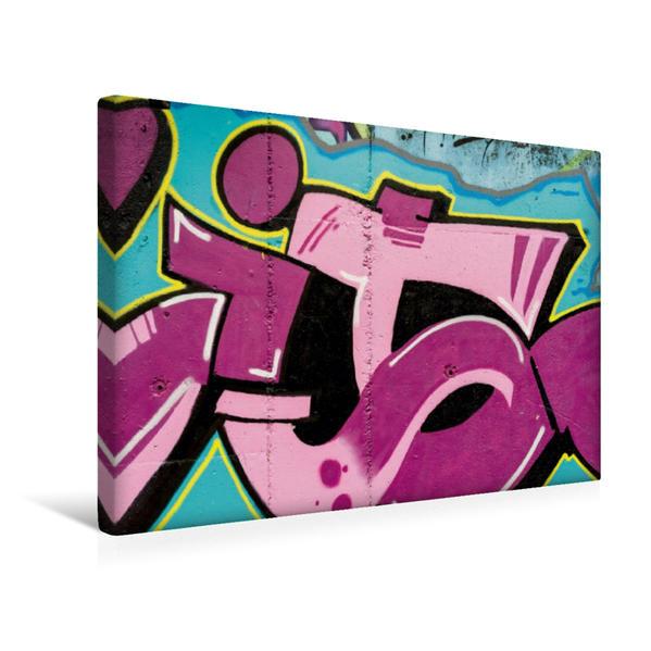 Premium Textil-Leinwand 45 cm x 30 cm quer, Ein Motiv aus dem Kalender Emotionale Momente: Betzdorfer Graffiti.   Wandbild, Bild auf Keilrahmen, Fertigbild auf echter Leinwand, Leinwanddruck - Coverbild
