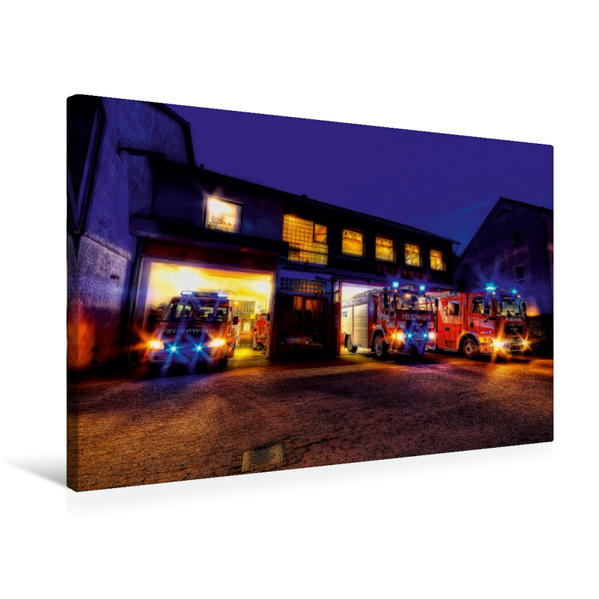 Premium Textil-Leinwand 75 cm x 50 cm quer, Ein Motiv aus dem Kalender Einsatzfahrzeuge | Wandbild, Bild auf Keilrahmen, Fertigbild auf echter Leinwand, Leinwanddruck - Coverbild