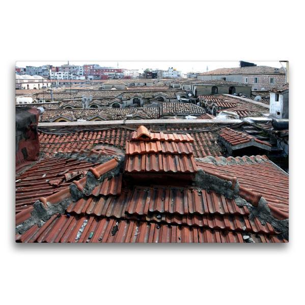Premium Textil-Leinwand 75 cm x 50 cm quer, Istanbul - Über dem Dach des Großen Basars   Wandbild, Bild auf Keilrahmen, Fertigbild auf echter Leinwand, Leinwanddruck - Coverbild