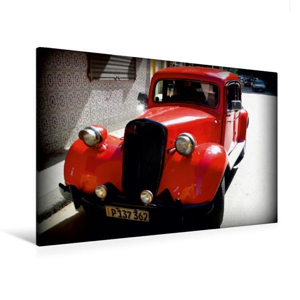 Premium Textil-Leinwand 120 cm x 80 cm quer, Citroen Traction Avant .- Ein Motiv aus dem Kalender