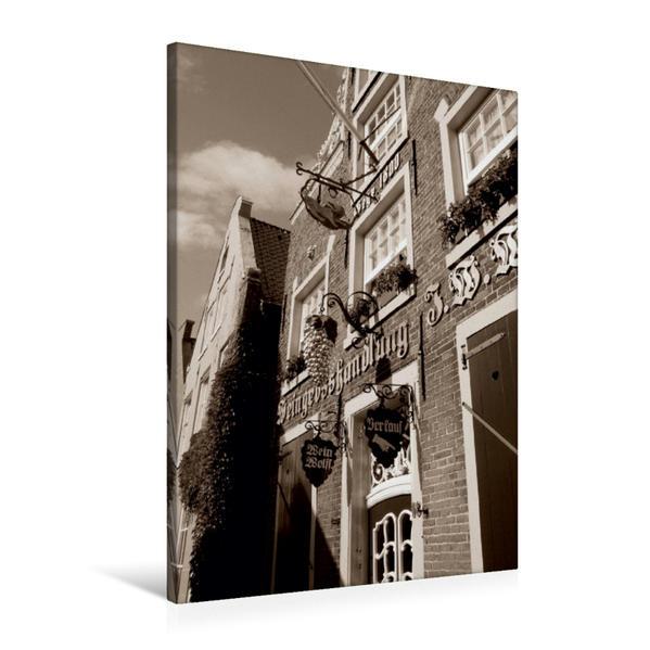 Premium Textil-Leinwand 60 cm x 90 cm hoch, Haus Samson in Leer/Ostfriesland | Wandbild, Bild auf Keilrahmen, Fertigbild auf echter Leinwand, Leinwanddruck - Coverbild