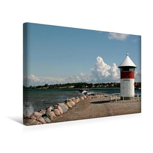 Premium Textil-Leinwand 45 cm x 30 cm quer, Leuchtfeuer Assens | Wandbild, Bild auf Keilrahmen, Fertigbild auf echter Leinwand, Leinwanddruck - Coverbild