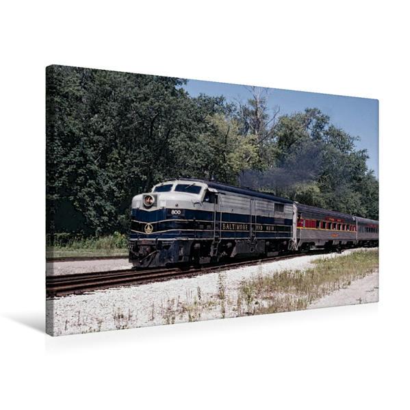Premium Textil-Leinwand 75 cm x 50 cm quer, Baltimor & Ohio, Backsville, Ohio, 2003 | Wandbild, Bild auf Keilrahmen, Fertigbild auf echter Leinwand, Leinwanddruck - Coverbild