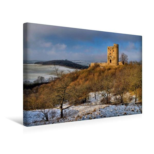 Premium Textil-Leinwand 45 cm x 30 cm quer, Burgruine Arnstein | Wandbild, Bild auf Keilrahmen, Fertigbild auf echter Leinwand, Leinwanddruck - Coverbild