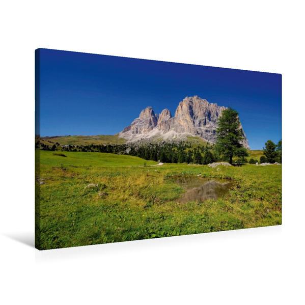 Premium Textil-Leinwand 90 cm x 60 cm quer, Langkofel   Wandbild, Bild auf Keilrahmen, Fertigbild auf echter Leinwand, Leinwanddruck - Coverbild