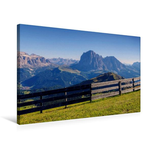 Premium Textil-Leinwand 75 cm x 50 cm quer, Lang- und Plattkofel   Wandbild, Bild auf Keilrahmen, Fertigbild auf echter Leinwand, Leinwanddruck - Coverbild