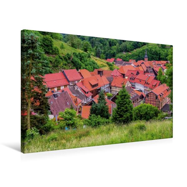 Premium Textil-Leinwand 75 cm x 50 cm quer, Stolberg | Wandbild, Bild auf Keilrahmen, Fertigbild auf echter Leinwand, Leinwanddruck - Coverbild