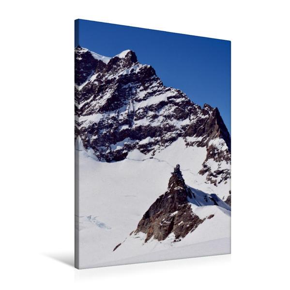 Premium Textil-Leinwand 60 cm x 90 cm hoch, Sphinx auf dem Jungfraujoch | Wandbild, Bild auf Keilrahmen, Fertigbild auf echter Leinwand, Leinwanddruck - Coverbild