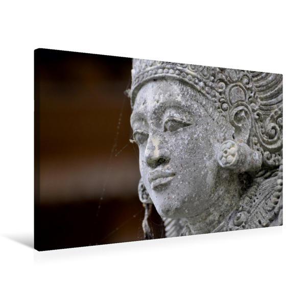 Premium Textil-Leinwand 75 cm x 50 cm quer, Statue in einem Tempel   Wandbild, Bild auf Keilrahmen, Fertigbild auf echter Leinwand, Leinwanddruck - Coverbild