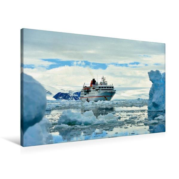 Premium Textil-Leinwand 90 cm x 60 cm quer, Weddellmeer, Antarktis | Wandbild, Bild auf Keilrahmen, Fertigbild auf echter Leinwand, Leinwanddruck - Coverbild