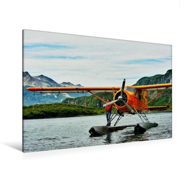 Premium Textil-Leinwand 120 cm x 80 cm quer, Unga Bay/ Aleuten | Wandbild, Bild auf Keilrahmen, Fertigbild auf echter Leinwand, Leinwanddruck - Coverbild