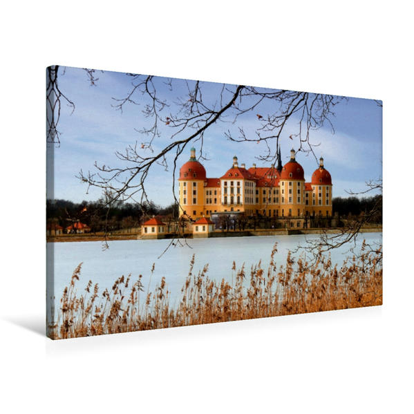 Premium Textil-Leinwand 75 cm x 50 cm quer, Moritzburg (Sachsen) | Wandbild, Bild auf Keilrahmen, Fertigbild auf echter Leinwand, Leinwanddruck - Coverbild