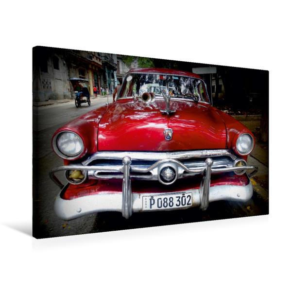 Premium Textil-Leinwand 75 cm x 50 cm quer, Ford Customline Sedan - Ein Motiv aus dem Kalender