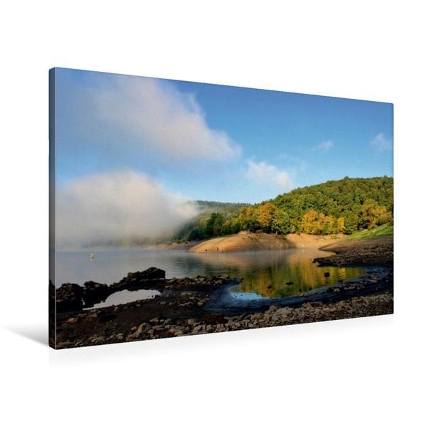 Premium Textil-Leinwand 90 cm x 60 cm quer, Bericher Bucht | Wandbild, Bild auf Keilrahmen, Fertigbild auf echter Leinwand, Leinwanddruck - Coverbild